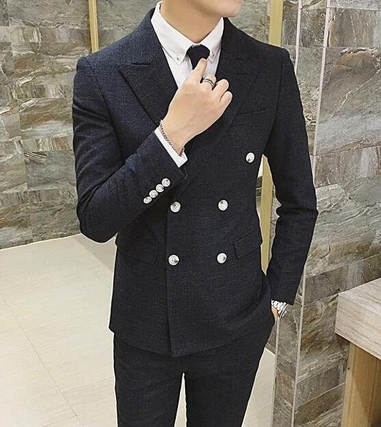 找到自己品牌 韓國男 舒適面料 暗紋 小西裝 修身西裝 西裝外套 單件外套