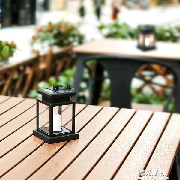 太陽能燈倍綠戶外庭院燈家用防水花園別墅裝飾蠟燭燈吊燈迷你路燈 NMS陽光好物