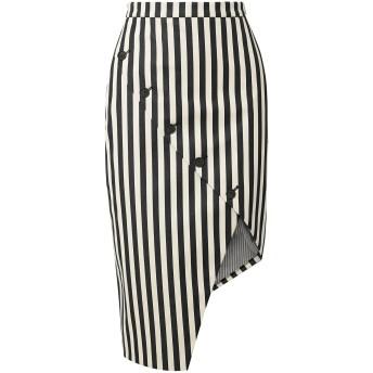 《セール開催中》ALTUZARRA レディース ひざ丈スカート ブラック 34 コットン 98% / ポリウレタン 2%