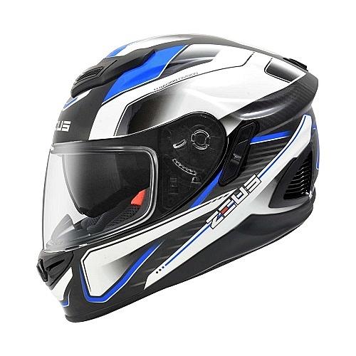 【東門城】ZEUS ZS1600 AK4 (藍) 碳纖維 全罩式安全帽 雙鏡片