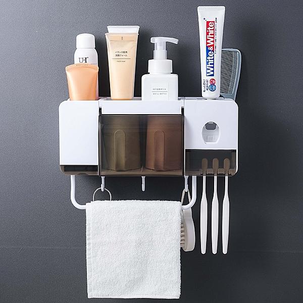 牙刷架毛巾架簡便2杯裝情侶式家居日常生活衛生間用品用具百貨家用小東西懶人神器推薦
