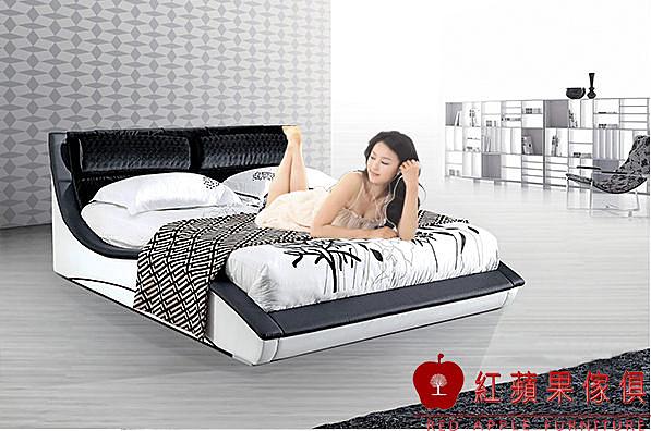 [紅蘋果傢俱] 932 復古系列 五尺/六尺 雙人床 床架 床台 數千坪展示