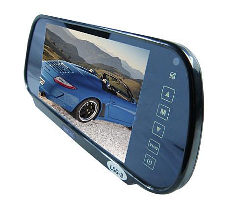 【真黃金眼】7吋後視鏡螢幕(橢圓型)-可外接倒車鏡頭.行車紀錄器.衛星導航.數位接收器