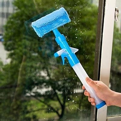 【雙面擦玻璃清潔工具LA112】NO135玻璃刷 玻璃清潔噴霧器玻璃刮刀【八八八】e網購