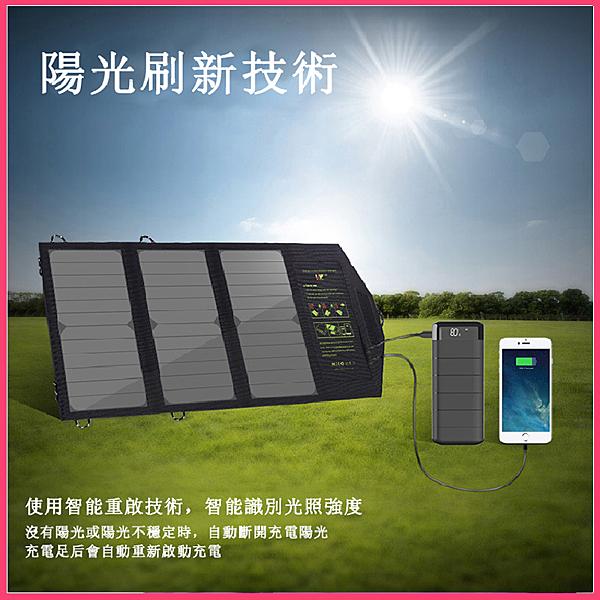 ALLPOWERS防水太陽能移動電源 5V21W太陽能電源 折疊行動電源 手機充電包 萌果殼