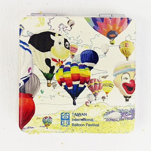 【收藏天地】台灣紀念品*雙面隨身鏡-台東熱氣球嘉年華 /小物 送禮 文創 風景 觀光  禮品