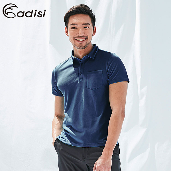 ADISI 男COOL鈦透氣速乾POLO衫AL1911071 (M-2XL) / 城市綠洲 (UPF50+、抗紫外線、防曬、降溫)