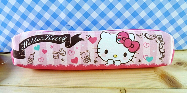 【震撼精品百貨】Hello Kitty 凱蒂貓~化妝包/筆袋-條紋