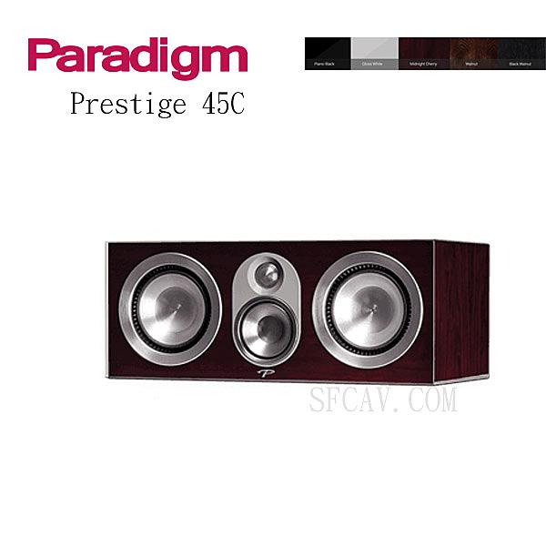 【新竹音響勝豐群】 Paradigm Prestige 45C 中置喇叭 M-CH / PB / GW