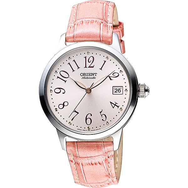 ORIENT 東方錶 花漾年華機械女錶-粉/36mm WJFAC06004Z