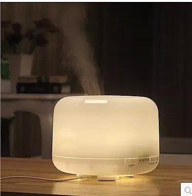 【Love Shop】 500ML 超聲波香薰機 加濕器香薰燈插電精油燈 熏香機 可達10小時 七彩/暖光 精油可