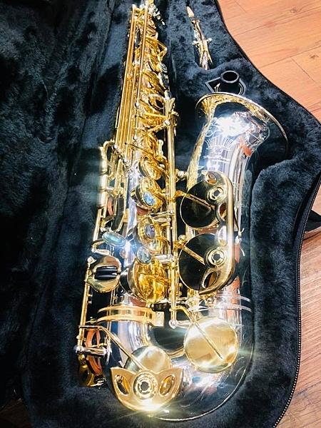 凱傑樂器 KJ VI NING ALTO 管身銀 按鍵金 刻花 中音 薩克斯風 台灣製