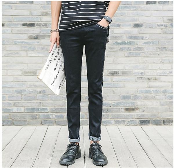 FINDSENSE品牌  韓國 潮品  歐美風 大牌範 時尚 牛仔褲 修身休閑