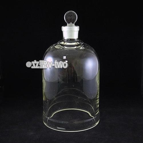 玻璃鐘罩(直徑120m/m*高180m/m) 開口式附玻璃活栓  展示罩 收納瓶 玻璃鐘罩