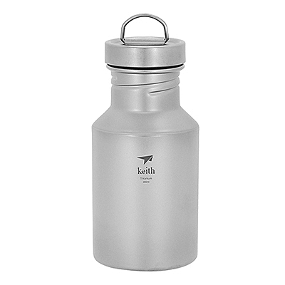 Keith純鈦 Ti3030運動水壺400ml(附水壺套)隨身瓶 隨行杯 冷水瓶 喝水 補水 野餐露營 好生活