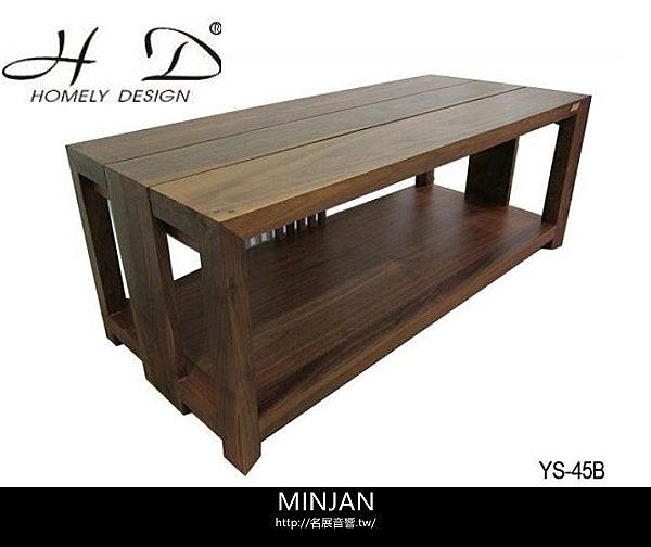 【名展音響】義大利精品 Homely Design 胡桃原木材質,純手工製造 YS-45B 雙層電視音響架
