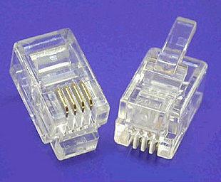 【世明國際】RJ11 水晶頭 6P2C 或 6P4C 電話水晶頭 10個/包