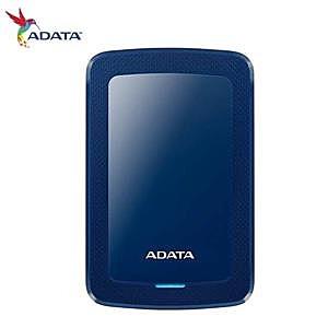 【綠蔭-免運】ADATA威剛 HV300 1TB(藍) 2.5吋行動硬碟