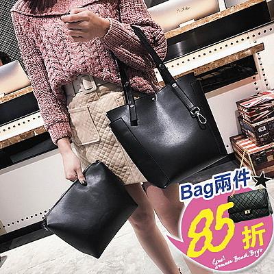 包任選2件85折托特包簡約熟女風素面大容量手提包托特包子母包【08G-T0231】