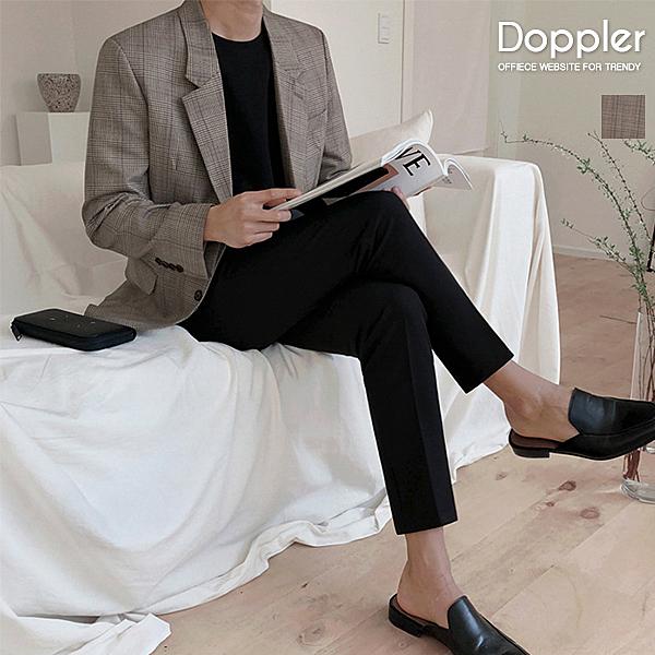 格紋西裝外套 韓系單排扣格紋西裝外套【TJW8290】Doppler 現貨+預購