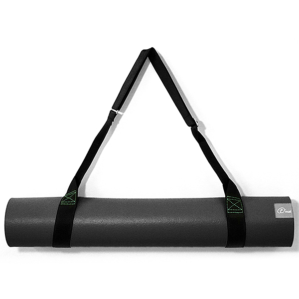 Taimat 天然橡膠瑜珈墊 183cm (附簡易揹帶) -山水系列 - 黑色 / 灰色