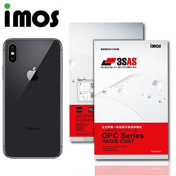 iMos APPLE iPhone X 3SAS 疏油疏水 背面保護貼