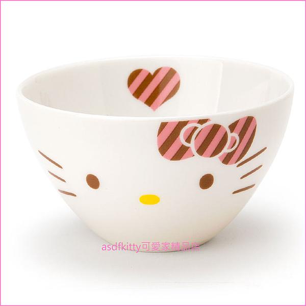 asdfkitty可愛家☆KITTY陶瓷碗/小飯碗-湯碗-點心碗-日本製