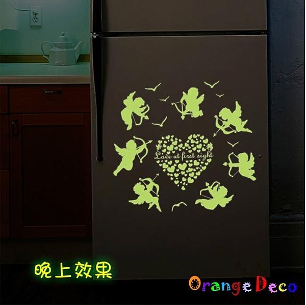 壁貼【橘果設計】天使 DIY組合壁貼 牆貼 壁紙 壁貼 室內設計 裝潢 壁貼