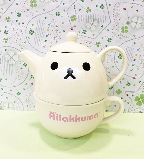 【震撼精品百貨】Rilakkuma San-X 拉拉熊懶懶熊~拉拉熊陶瓷杯組-妹妹#89670