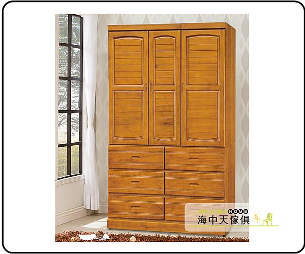 {{ 海中天休閒傢俱廣場 }} G-9 摩登時尚 臥室系列 116-1  樟木4x7尺百葉衣櫥
