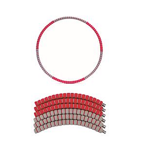 【PUSH!】拼接式可加重呼拉圈(加重款紅色)H27-1