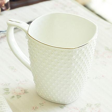 歐式手工描金高檔陶瓷器牛奶杯子
