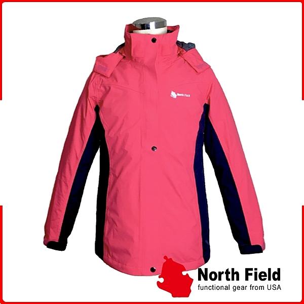 【North Field 美國 女 防水兩件式羽絨外套《深桃紅/藏青》】8NDGW3507R/防水/防風/透氣/羽絨外套/保暖