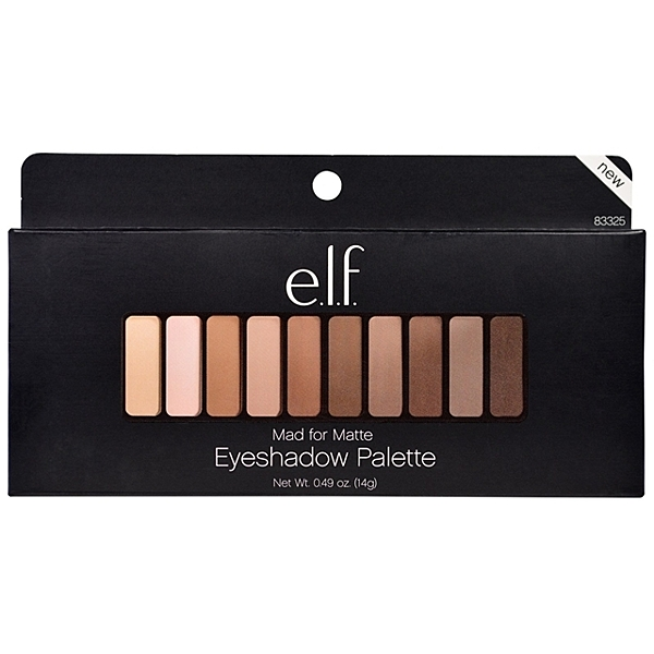 【愛來客 】美國彩妝 elf Mad for Matte Eyeshadow Palette 霧面大地裸色10色眼影盤