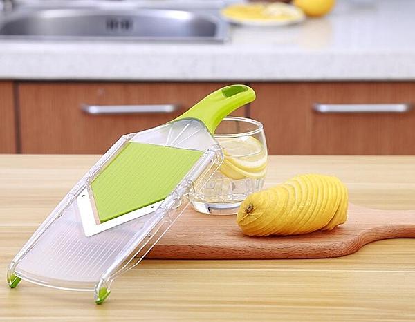 水果檸檬橙子西柚切片神器多功能不銹鋼切片廚房用碎菜機手動家用 WD晴天時尚館