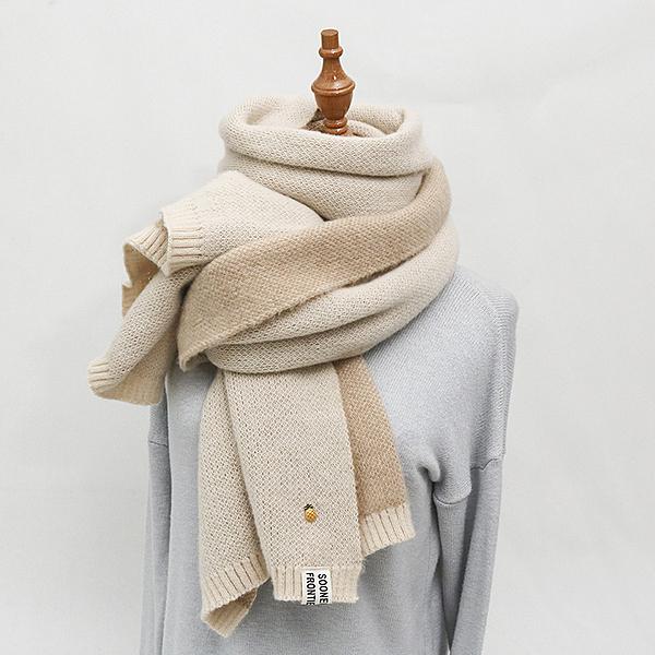 圍巾女冬季可愛少女針織毛線圍脖春秋韓版百搭加厚保暖學生原宿風