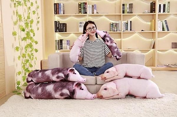 【50公分】仿真母豬玩偶 農場小豬抱枕 聖誕節交換禮物 店面擺設餐廳布置 農場莊園裝潢 KUSO玩具