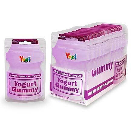 YUPI-呦皮綜合莓果優格味QQ糖(40g)*3包【合迷雅好物超級商城】