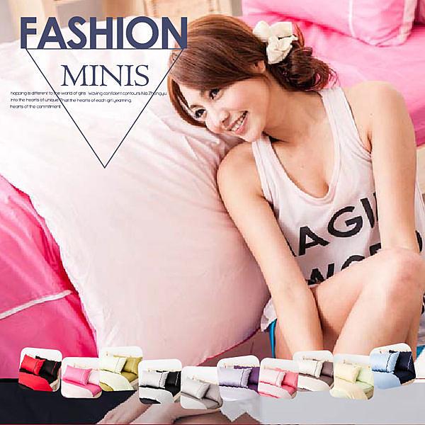 MiNiS 素色雙色系 雙人床包被套四件組 100%精梳棉 台灣製 TWBB02