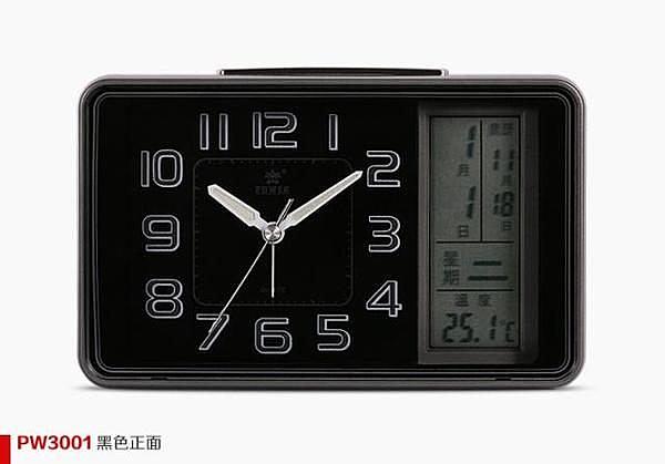霸王鬧鐘LED大屏幕萬年曆(黑色)