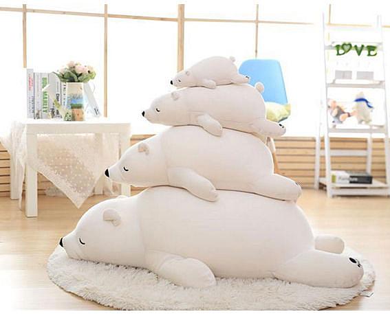 【葉子小舖】北極熊娃娃抱枕(1.1m)/絨毛玩偶/抱枕/公仔/生日禮物/小朋友玩具/情侶送禮/居家擺飾