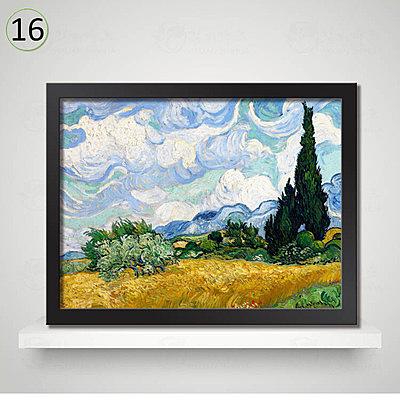 [銀聯網] 梵高裝飾畫客廳牆畫賓館有框畫(黑框) 1入