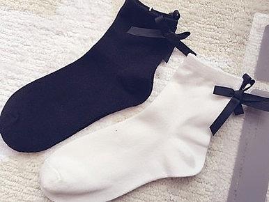 【協貿國際】短襪後跟絲帶蝴蝶結
