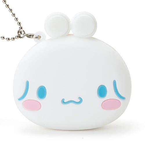 【震撼精品百貨】大耳狗_Cinnamoroll~Sanrio 喜拿可愛大臉造型雙耳扣式迷你矽膠零錢包#618047