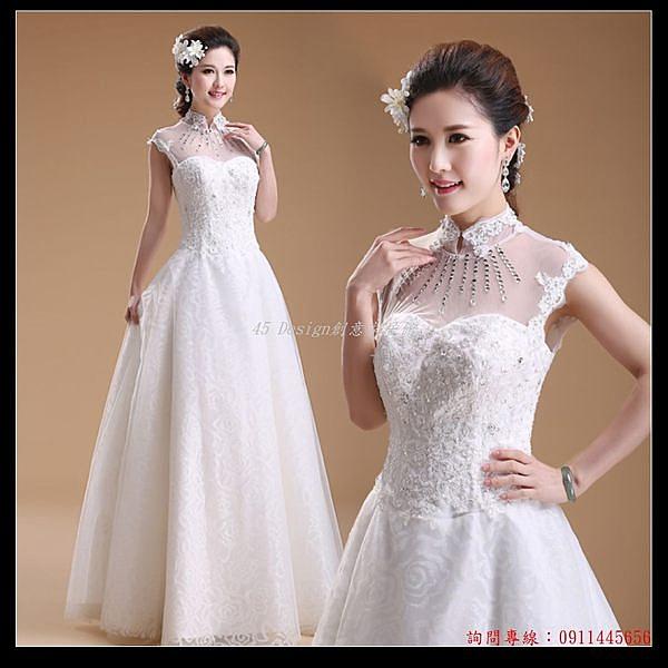 (45 Design) 訂做款式7天到貨 A擺婚紗 魚尾婚紗 鏤空婚紗禮服 新娘禮服 結婚禮服