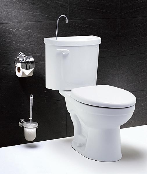 《修易生活館》 凱撒衛浴 CAESAR CB1326 附洗手器省水馬桶 30CM