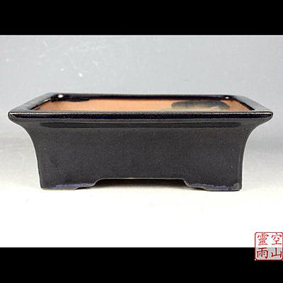 色釉陶瓷28公分連腳長方花盆