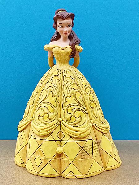 【震撼精品百貨】Disney 迪士尼~Enesco精品雕塑-迪士尼美女與野獸貝兒塑像-黃禮服(抽屜)#95947