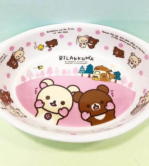 【震撼精品百貨】Rilakkuma San-X 拉拉熊懶懶熊~拉拉熊陶磁盤子(可焗烤)-粉色#92651