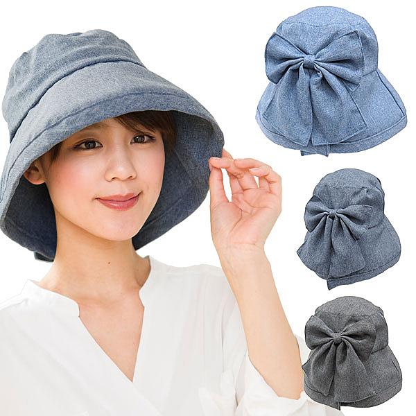 日本進口-女仕抗UV蝴蝶結優雅遮陽帽(可調節頭圍)-玄衣美舖